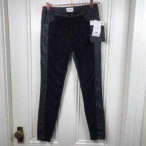 NWT RVCA vegan leather pants suede skinny size 26